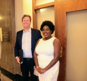 Chakita Patterson founder of United Street Tours with Tim Walker Executive Director of the Metro Historical Commission