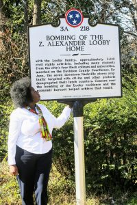 Nashville walking tour with United Street Tours Chakita Patterson at Z. Alexander Looby Home